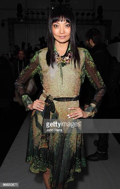 Irina Pantaeva attends Nicole Miller Fall 2010 during MercedesBenz Fashion Week at Bryant Park on February 12 2010 in New York City
