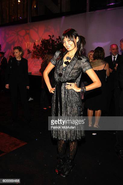 Irina Pantaeva attends SWAROVSKI hosts a party to present their POETIC NIGHT Collection at The Rink at Rockefeller Center on May 3 2006 in New York...