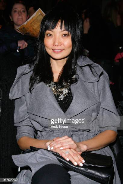Irina Pantaeva attends the Betsey Johnson Fall 2010 fashion show during MercedesBenz Fashion Week at Altman Building on February 14 2010 in New York...