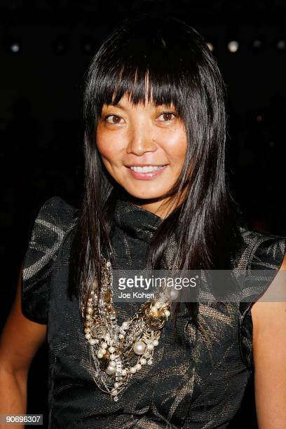 Irina Pantaeva attends Vivienne Tam Spring 2010 during MercedesBenz Fashion Week at Bryant Park on September 12 2009 in New York City
