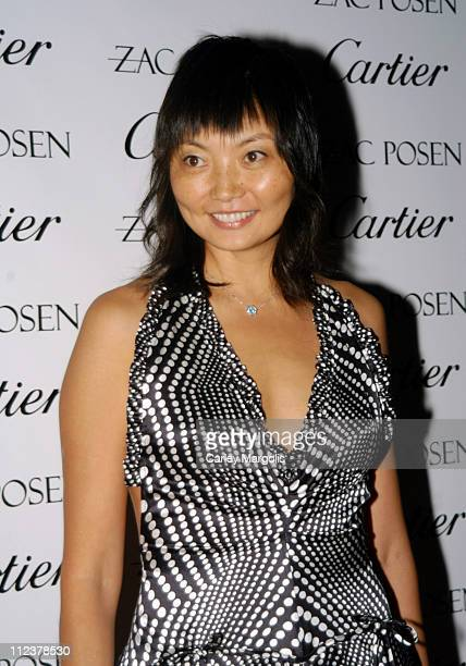 Irina Pantaeva during Olympus Fashion Week Spring 2005 Zac Posen After Party and Launch of New Cartier Trinity Collection at The Cartier Mansion on...