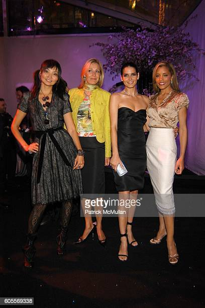 Irina Pantaeva Nadia Swarovski Angie Harmon and Michael Michelle attend SWAROVSKI hosts a party to present their POETIC NIGHT Collection at The Rink...