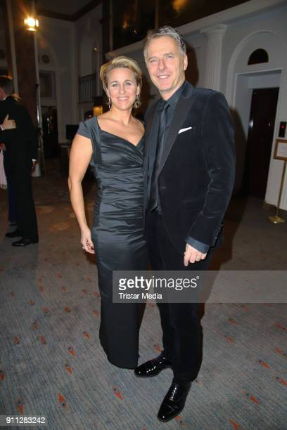 Irina Pilawa and her husband Joerg Pilawa during the press ball Hamburg at Hotel Atlantik on January 27 2018 in Hamburg Germany