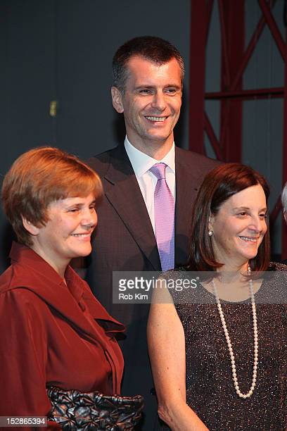 Irina Prokhorov BAM president Karen Brooks Hopkins and Mikhail Prokhorov attend the BAM 30th Next Wave gala at Lepercq Space at BAM in Brooklyn on...