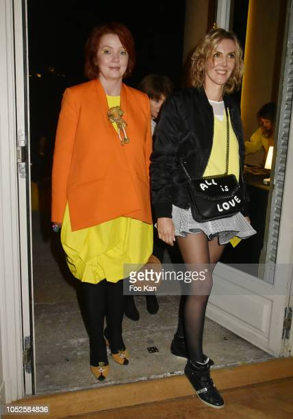 Irina Rasquinet and Garance PrimatÊ attend 'Le Bal Jaune 2018' 20th Anniversary at Hotel Salomon de Rothschild on October 19 2018 in Paris France