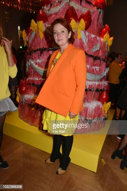 Irina Rasquinet attends 'Le Bal Jaune 2018' 20th Anniversary at Hotel Salomon de Rothschild on October 19 2018 in Paris France
