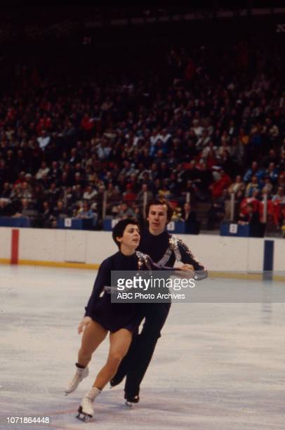Irina Rodnina Alexander Zaitsev competing in the Pairs figure skating event at the 1980 Winter Olympics / XIII Olympic Winter Games Olympic Center...