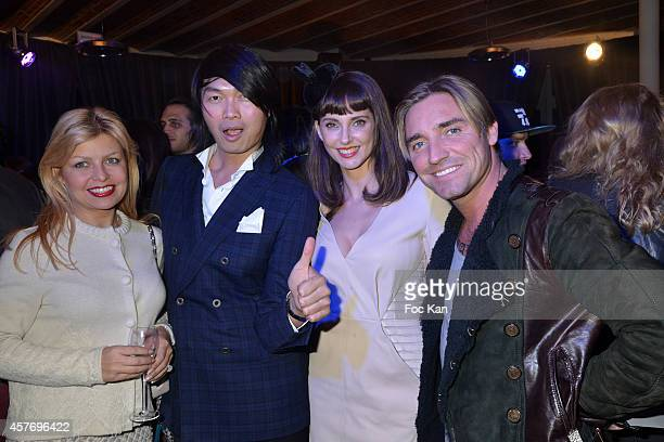 Irina Roitel Axel Huyhn Frederique BelÊand Cyril Peret Paglinghi attend the FIAC 2014 International Contemporary Art Fair Private Cocktail At the...