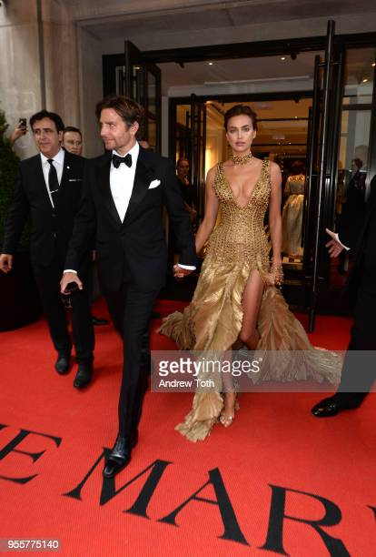 Irina Shayk and Bradley Cooper attend as The Mark Hotel celebrates the 2018 Met Gala at The Mark Hotel on May 7 2018 in New York City