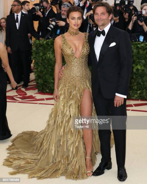 Irina Shayk and Bradley Cooper attend Heavenly Bodies Fashion The Catholic Imagination the 2018 Costume Institute Benefit at the Metropolitan Museum...