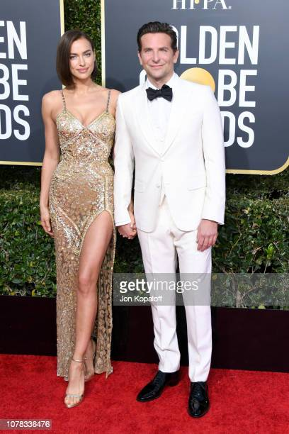 Irina Shayk and Bradley Cooper attend the 76th Annual Golden Globe Awards at The Beverly Hilton Hotel on January 6 2019 in Beverly Hills California