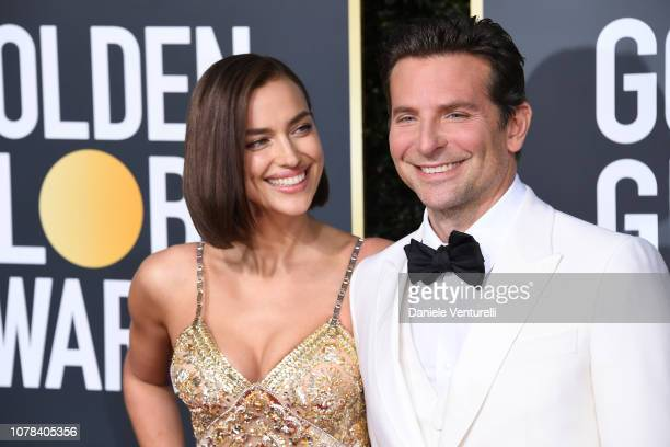 Irina Shayk and Bradley Cooper attend the 76th Annual Golden Globe Awards at The Beverly Hilton Hotel on January 6, 2019 in Beverly Hills, California.