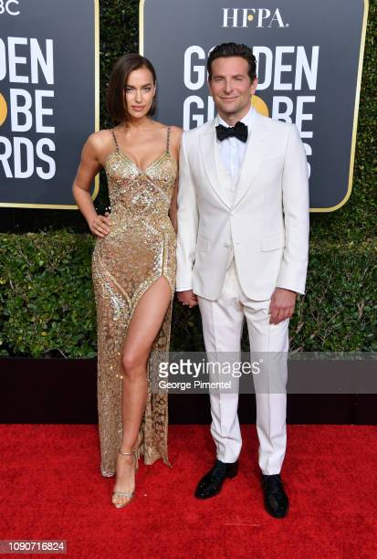 Irina Shayk and Bradley Cooper attend the 76th Annual Golden Globe Awards held at The Beverly Hilton Hotel on January 06 2019 in Beverly Hills...