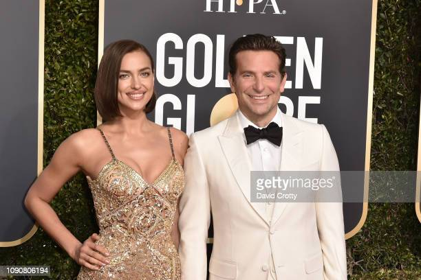 Irina Shayk and Bradley Cooper attend the 76th Annual Golden Globe Awards at The Beverly Hilton Hotel on January 06 2019 in Beverly Hills California