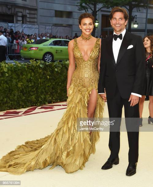 Irina Shayk and Bradley Cooper attend the Heavenly Bodies: Fashion & The Catholic Imagination Costume Institute Gala at The Metropolitan Museum of...
