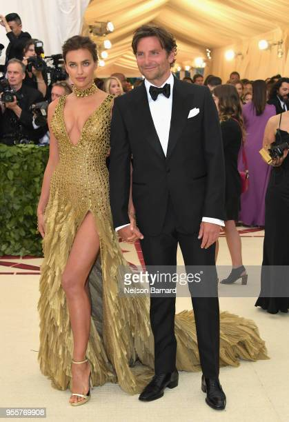 Irina Shayk and Bradley Cooper attend the Heavenly Bodies Fashion The Catholic Imagination Costume Institute Gala at The Metropolitan Museum of Art...