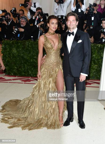 Irina Shayk and Bradley Cooper attend the Heavenly Bodies Fashion The Catholic Imagination Costume Institute Gala at Metropolitan Museum of Art on...