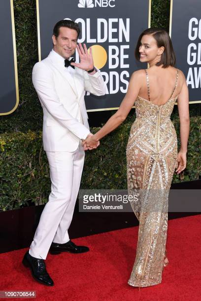Irina Shayk and Bradley Cooper attends the 76th Annual Golden Globe Awards at The Beverly Hilton Hotel on January 06 2019 in Beverly Hills California