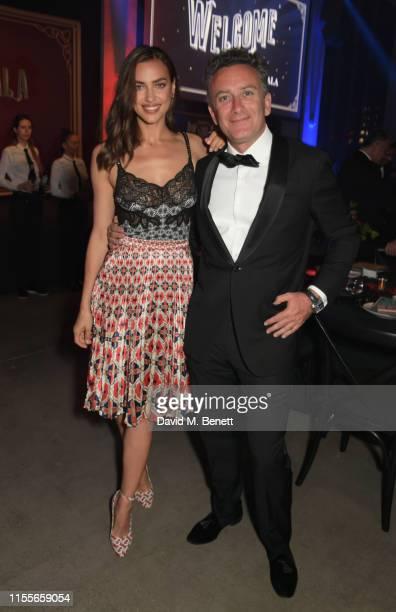 Irina Shayk and Formula E CEO Alejandro Agag attend the 2018/19 ABB FIA Formula E Championship Awards Dinner following the Formula E 2019 New York...