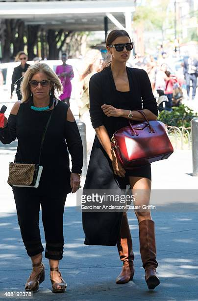 Irina Shayk and Gloria Campano are seen on September 14 2015 in New York City
