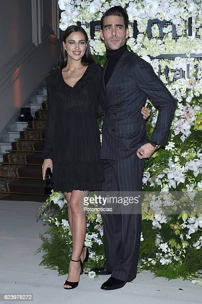 Irina Shayk and Jon Kortajarena attend 'Intimissimi' 20th anniversary party at the Italian Embassy on November 17 2016 in Madrid Spain
