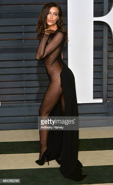 Irina Shayk arrives at the 2015 Vanity Fair Oscar Party Hosted By Graydon Carter at Wallis Annenberg Center for the Performing Arts on February 22,...