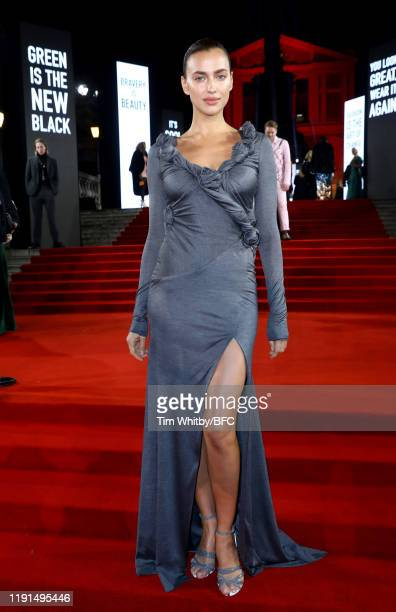 Irina Shayk arrives at The Fashion Awards 2019 held at Royal Albert Hall on December 02 2019 in London England