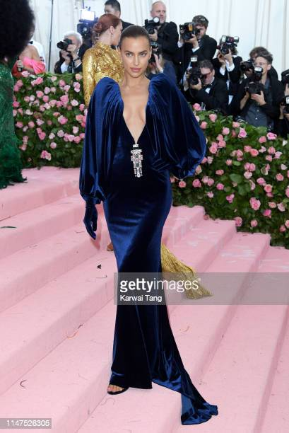 Irina Shayk arrives for the 2019 Met Gala celebrating Camp: Notes on Fashion at The Metropolitan Museum of Art on May 06, 2019 in New York City.