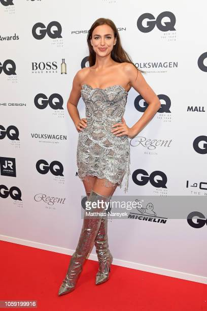 Irina Shayk arrives for the 20th GQ Men of the Year Award at Komische Oper on November 8, 2018 in Berlin, Germany.