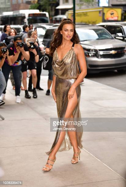 Irina Shayk arrives to the Daily Front Row's 2018 Fashion Media Awards at Park Hyatt New York on September 6, 2018 in New York City.