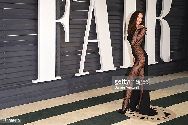 Irina Shayk attends 2015 Vanity Fair Oscar Party Hosted By Graydon Carter at Wallis Annenberg Center for the Performing Arts on February 22, 2015 in...