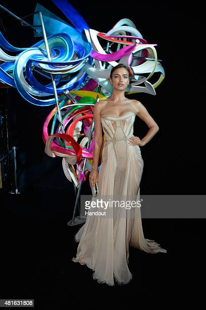 Irina Shayk attends a Dinner and Auction during The Leonardo DiCaprio Foundation 2nd Annual SaintTropez Gala at Domaine Bertaud Belieu on July 22...
