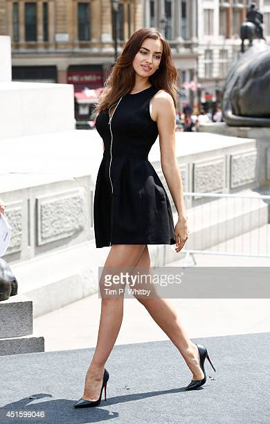 Irina Shayk attends a photocall for Hercules at Trafalgar Square on July 2 2014 in London England