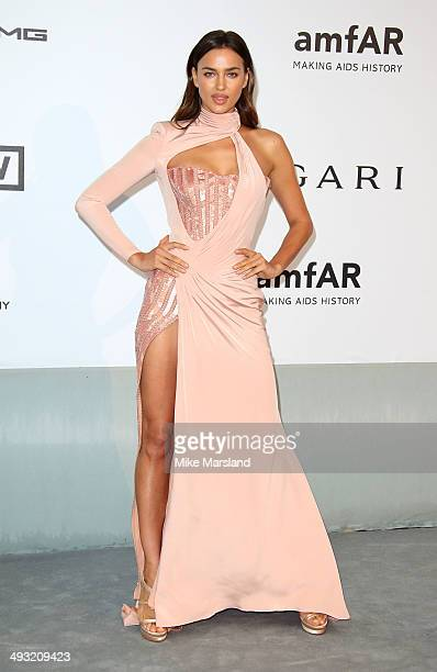 Irina Shayk attends amfAR's 21st Cinema Against AIDS Gala, Presented By WORLDVIEW, BOLD FILMS, And BVLGARI at the 67th Annual Cannes Film Festival on...
