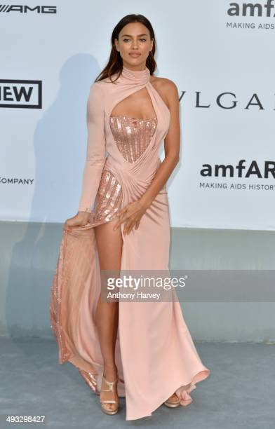 Irina Shayk attends amfAR's 21st Cinema Against AIDS Gala Presented By WORLDVIEW BOLD FILMS And BVLGARI at the 67th Annual Cannes Film Festival on...