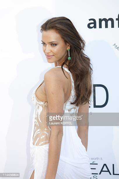 Irina Shayk attends amfAR's Cinema Against AIDS Gala during the 64th Annual Cannes Film Festival at Hotel Du Cap on May 19 2011 in Antibes France