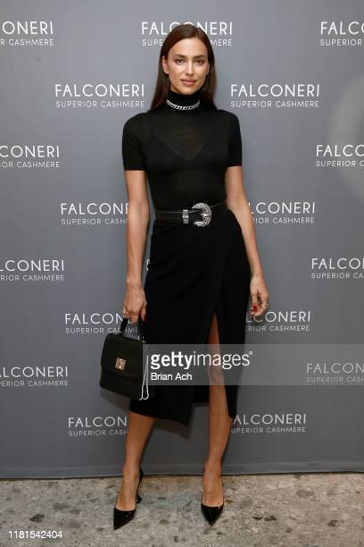 Irina Shayk attends as Falconeri launches in the US with store opening at 101 Prince Street on October 16, 2019 in New York City.