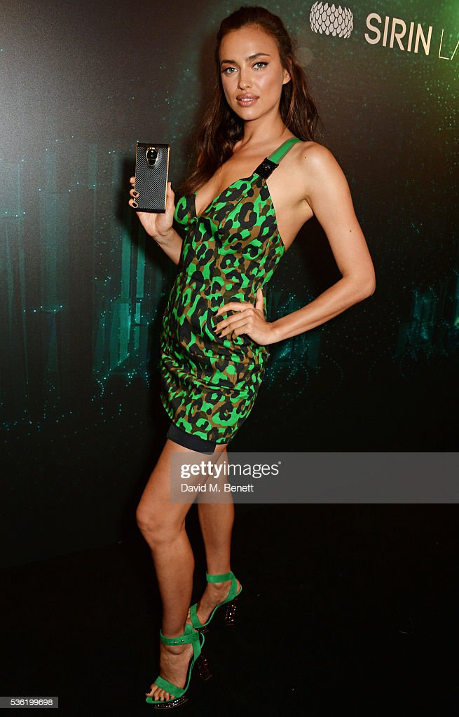 Irina Shayk attends as SIRIN LABS Launches SOLARIN at One Marylebone on May 31, 2016 in London, England.