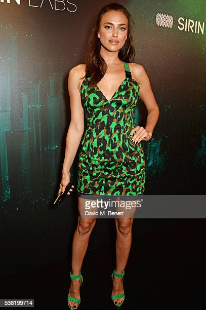 Irina Shayk attends as SIRIN LABS Launches SOLARIN at One Marylebone on May 31 2016 in London England