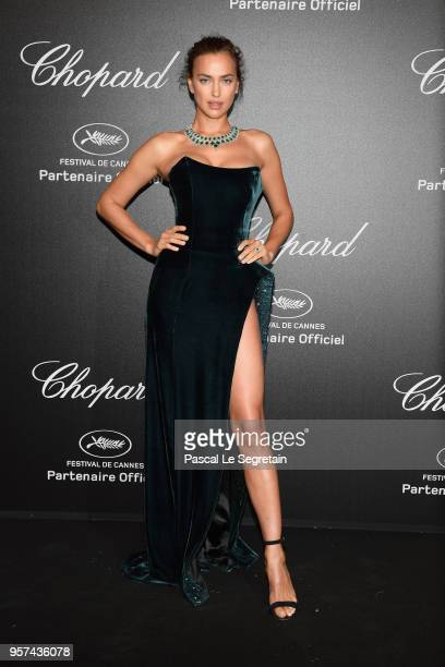 Irina Shayk attends Chopard Secret Night during the 71st annual Cannes Film Festival at Chateau de la Croix des Gardes on May 11 2018 in Cannes France