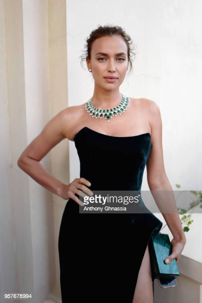 Irina Shayk attends Chopard Secret Night during the 71st annual Cannes Film Festival at Chateau de la Croix des Gardes on May 11, 2018 in Cannes,...