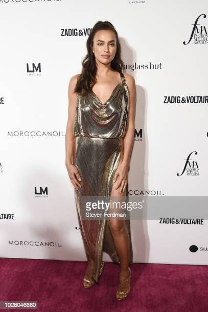 Irina Shayk attends Daily Front Row's Fashion Media Awards presented by ZadigVoltaire Sunglass Hut Moroccan Oil LIM Fiji on September 6 2018 in New...