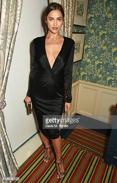 Irina Shayk attends Edward Enninful's OBE dinner at Mark's Club on October 27 2016 in London England