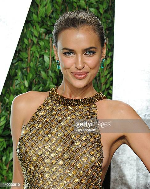 Irina Shayk attends the 2012 Vanity Fair Oscar Party at Sunset Tower on February 26 2012 in West Hollywood California