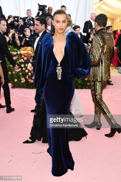 Irina Shayk attends The 2019 Met Gala Celebrating Camp: Notes on Fashion at Metropolitan Museum of Art on May 06, 2019 in New York City.