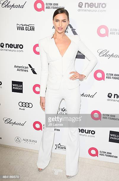 Irina Shayk attends the 23rd Annual Elton John AIDS Foundation Academy Awards Viewing Party on February 22 2015 in West Hollywood California