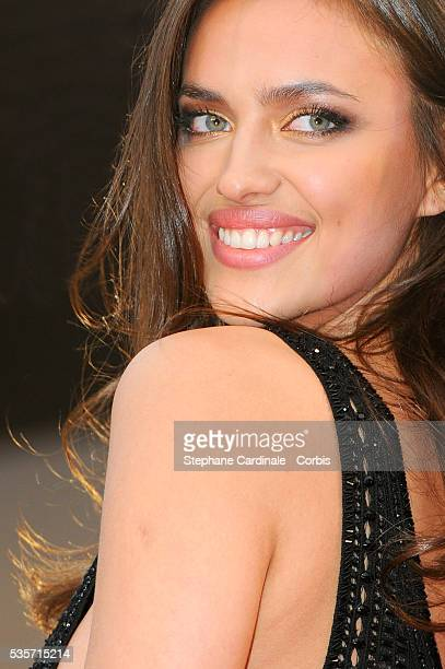 Irina Shayk attends the 'All is Lost' premiere during the 66th Cannes International Film Festival.