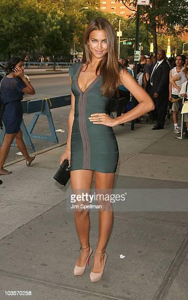 Irina Shayk attends the Cinema Society 2ist screening of Twelve at Landmark's Sunshine Cinema on July 28 2010 in New York City