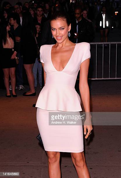 Irina Shayk attends the Cinema Society Calvin Klein Collection screening of The Hunger Games at SVA Theatre on March 20 2012 in New York City