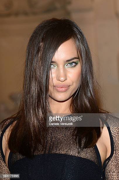 Irina Shayk attends the 'CR Fashion Book Issue 2' Carine Roitfeld Cocktail as part of Paris Fashion Week at Hotel ShangriLa on March 5 2013 in Paris...